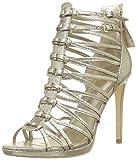 Guess Taavi2/Sandalo (Sandal)/Leathe Scarpe con Cinturino alla Caviglia Donna, Oro 40 EU