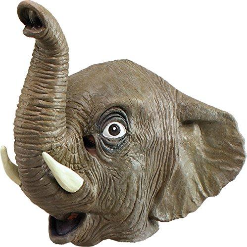 Erwachsene Karneval Dschungel Party Halloween Weihnachten Weihnachten Tier clubwear Cosplay Maske - Elefant Overhead, One ()