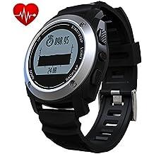 Makebatutes Fitness Tracker GPS,bluetooth Pulsera Inteligente Support Ritmo Cardiaco Monitor Compatible con iOS, Android Smartphone