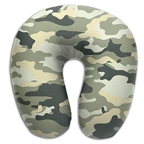 Nackenhörnchen Camouflage Pattern Print U Shaped Pillow Memory Foam Neck Pillow Travel Relief Neck Pain Comfortable Super Soft Cervical Pillows Resilient Material Relex Pollow Seitenschläferkissen