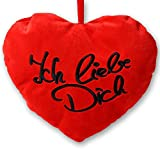 """3 x corazón y funda de almohada de 18 cm de peluche en forma de """"te quiero"""" de San Valentín o de colour rojo con diseño de corazones de cojín Oese"""