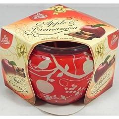Idea Regalo - In vetro con candela profumata Mela e Cannella