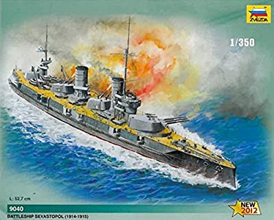 Zvezda Z9040 Russian Battleship Sewastopol Kit 1:350 Modellino Model