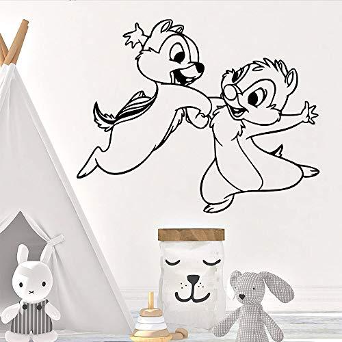mlpnko Retro Kaninchen Dekoration wandaufkleber Dekoration Wohnzimmer Schlafzimmer wandtattoo 42x52 cm