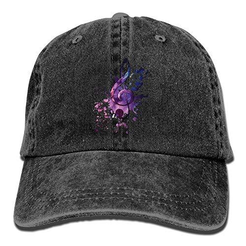 SOTTK Herren Damen Baseball Caps,Hüte, Mützen, Cool Music Notes Denim Hat Adjustable Men Casual Baseball Hat (Cap Hantel Gewicht Set)