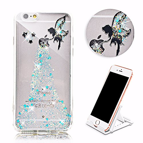 Vandot morbida in silicone TPU flessibile gel Bella 3D Creativo Cute Cartoon Buck denti quarto di Cover Custodia Cover Custodia Case Cover Portafoglio coprire per iPhone 6S Plus / 6 Plus(5.5 pollici)0 DESIGN 1