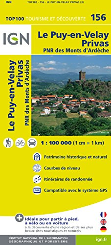 Top100156 le-Puy-en-Velay/Privas 1/100.000