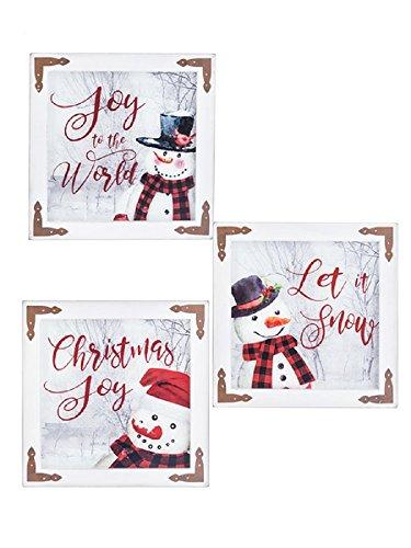 Ganz Snowman Fensterschilder 3er Set Sortiert