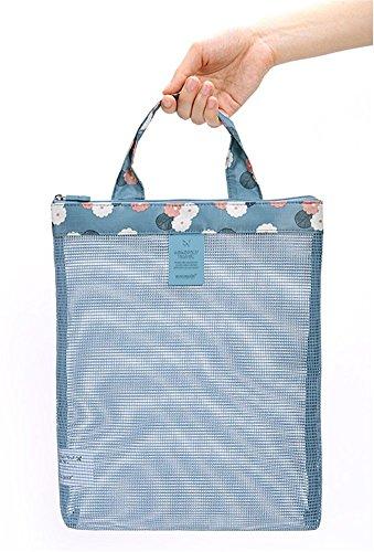 Ofertas De Venta Fortunings JDS Sacchetto di spalla del sacchetto di immagazzinaggio di Sunglass della borsa di spiaggia della maglia delle donne di modo Blu Manchester Gran Venta Precio Barato Holgura Con Paypal Navegar Barato Compra El Envío Libre GlsNVv5Wa