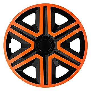 CM DESIGN Action Orange/Schwarz - 15 Zoll, passend für Fast alle Peugeot z.B. für 308 5-Türer