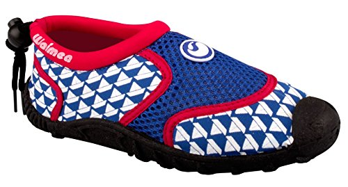Schreuders sport per bambini Waimea stampa Aqua scarpe, in neoprene Cobalt Blue/Red/White