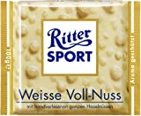 Ritter Sport White Whole Hazelnuts Chocolate 100 g by Ritter Sport