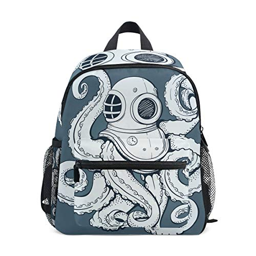 Mini-Kinderrucksack Daypack Monster Octopus Helm Vorschule Kindergarten Kleinkind Tasche für Reisen Mädchen ()