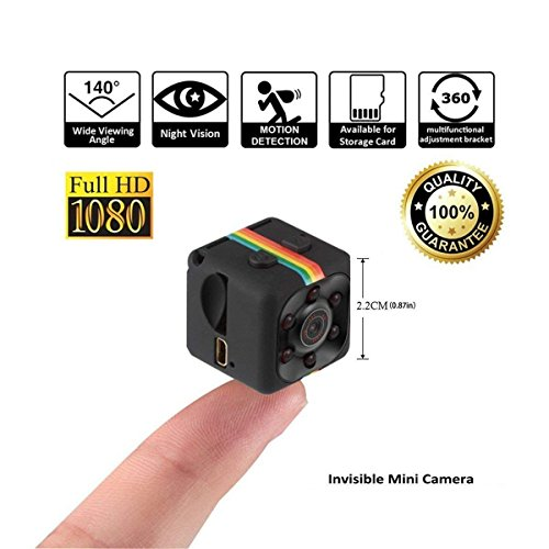 HankerMall Mini Caméra HD Caméscope 3.6mm Vision Nocturne FOV140 1080P Mini Enregistreur Vidéo Sport DV