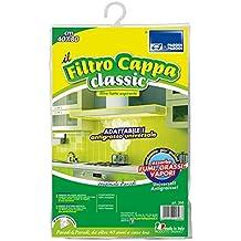 Parodi & Parodi Cappa Classic Filtro para campanas extractoras, poliéster, blanco, 20x 26x 5cm