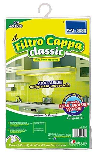 filtro cappa classica 40x80 cm, filtro cappa per cappe da cucina ritagliabile, FILTRO CAPPA CLASSIC 40x80cm, filtro cappa per cucine, art. 396 Parodi&Parodi