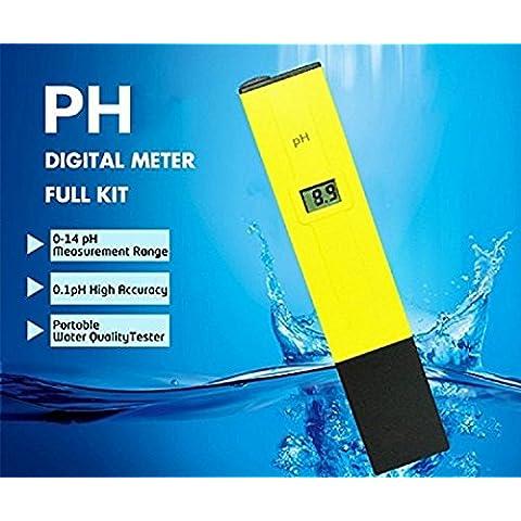 DIKETE® LCD digitale metri valore pH misura del tester del tester di prova dell'acqua con (Strisce Aqua Test)