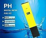 DIKETE® Premium Digital LCD pH Messgerät pH Wert Wasser Messgerät Messer Tester Meter Prüfer mit 0.1, 0-14 für Schwimmbad, Pool, Landwirtschaft, Hobby, Profi-Gärtner, Orchideenzüchter , Aquarium ,Water Wasser Labor