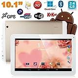 Tablette tactile 10 pouces 3G Double SIM Quad Core WiFi GPS 32Go Or