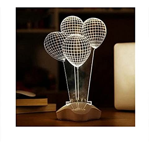 Lámparas de globo de la decoración creativa micro USB llevó la lámpara de mesa Lámparas de noche de la historieta llevó la luz LED blanco mesa en forma de