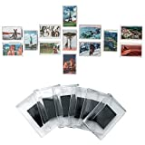 Kurtzy Ensemble de 50 Cadres à Photos Magnétiques Vierges pour Réfrigérateurs Aimants de Frigos en Acrylique Transparent de Qualité avec Un Emplacement pour Les Photos 7cm x 4,5cm