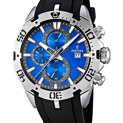 Festina F16672/5 - Reloj cronógrafo de cuarzo para hombre con correa de caucho, color negro de Festina