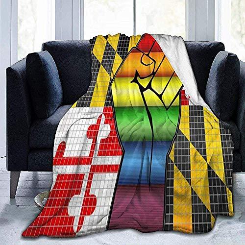 Ace Mate Decke Faust Maryland Flagge Regenbogen Homosexuell Throw Decke Ultra Soft Velvet Decke Bett Decke Sofa Decke Teppich -