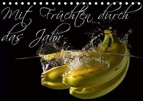 Mit Früchten durch das Jahr (Tischkalender 2020 DIN A5 quer): Früchte beim Sturz ins Wasser fotografisch Eingefroren. (Monatskalender, 14 Seiten ) (CALVENDO Lifestyle) - Zitrusfrüchte Bäume