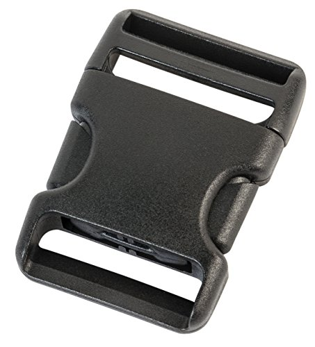 Duraflex plastic buckles in 20 mm, 25 mm, 38 mm, 50 mm, black color, plastic buckle closures, replacement buckles, 7045, Black, 38 mm