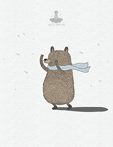 Sketch book: Bear in raining cover (8.5 x 11)  inches 110 pages, Blank Unlined Paper for Sketching, Drawing , Whiting , Journaling & Doodling: Volume 1 (Bear in raining sketchbook,) por Sarah story
