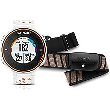 Garmin Forerunner 620 GPS-Laufuhr - weiss/orange - inklusive Herzfrequenz Brustgurt und Geschwindigkeits-/Trittfrequenzsensor