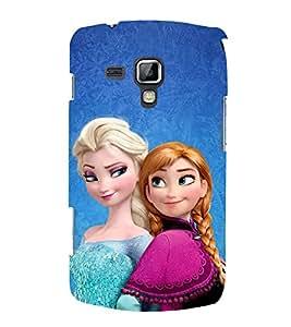 Fuson Designer Back Case Cover for Samsung Galaxy S Duos S7562 (Anna Elsa Princess Anna Princess Elsa Frozen)