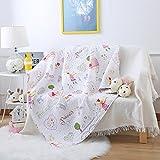 Steppdecke von Ustide für Babybetten, doppelseitige Decke aus Baumwolle für Kinder, 110 x 130 cm, Zug-Design, baumwolle, princess, 43