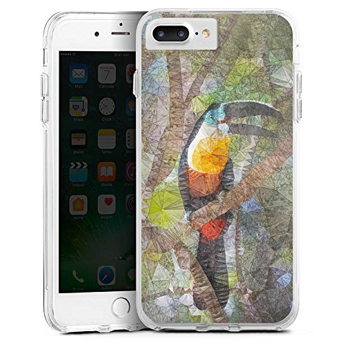 Apple iPhone 6s Plus Bumper Hülle Bumper Case Glitzer Hülle Papagei Bird Vogel Bumper Case transparent