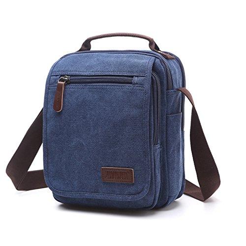 Outreo Borse a Spalla Borsetta Tracolla Uomo Vintage Messenger Bag Sport  Borsa Scuola Borsello Tela Sacchetto 73c973d321e