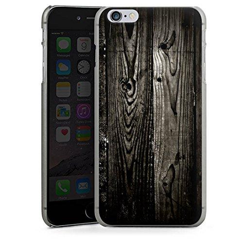 Apple iPhone X Silikon Hülle Case Schutzhülle Ebenholz Look Holz Schwarz Holzwand Hard Case anthrazit-klar