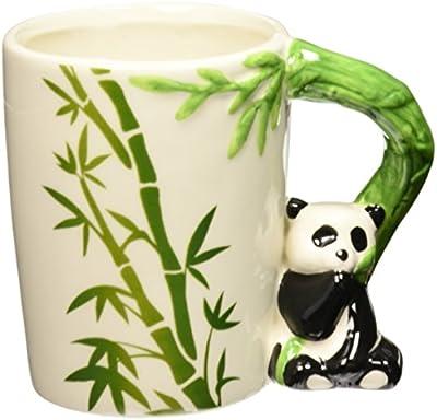 Puckator SMUG27 Mug with Panda Handle, 8 x 12.5 x 10.5 cm