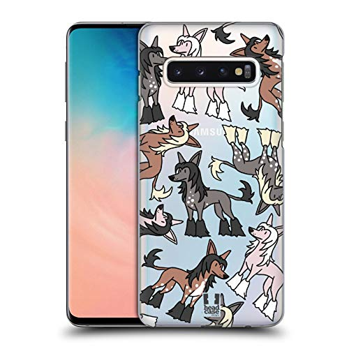Head Case Designs Chinese Crested Hunde Rassen Modelle 6 Harte Rueckseiten Huelle kompatibel mit Samsung Galaxy S10 -