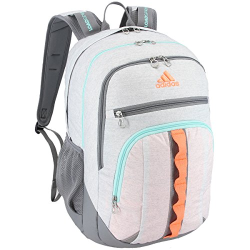 adidas Prime III Rucksack, unisex, Jersey White/Grey/Flash Orange/Energy Aqua