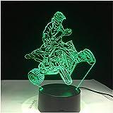 Motocicleta De Montaña De Cuatro Ruedas 7 Colores De Luz Para La Decoración Del Hogar Visualización De La Lámpara Luz Óptica 3D Led Night Light Dynamic