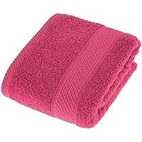 Homescapes Toalla de Manos, 100% algodón Turco Absorbente y Suave, Color Rojo Frambuesa