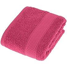Suave algodón Toalla Absorbente Manos 100 y Frambuesa de Color Rojo Turco Homescapes gI8dqI