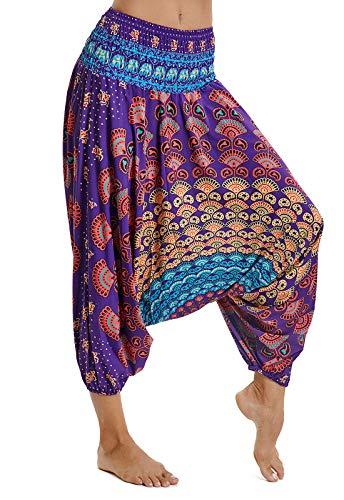 6e69ba27e69c FITTOO Pantaloni Harem Donna Pantaloni Yoga Bloomers Danza del Ventre