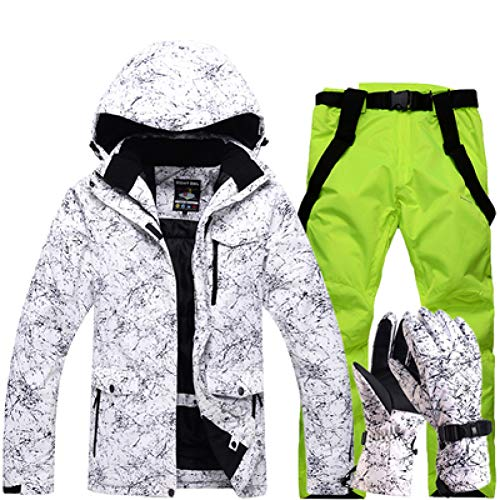 KUNHAN Skibekleidung für Herren Frauen Wasserdichte Skianzug Berg Skianzug Für Männer Verdicken Warme Ski Schnee Jacke + Snowboard Hose Ski Set - Für Ski-set Männer