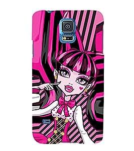 EPICCASE pinky girl Mobile Back Case Cover For Samsung Galaxy S5 Mini (Designer Case)