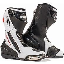 Drift Richa para hombre botas de moto botas de motorista | Black/White, color negro, talla 43