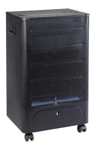 Favex 8591600 Praha Blue Flame Chauffage d'Appoint à Gaz Flamme Noir/Bleu 40 x 29 x 70 cm