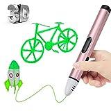 DEMU DIY 3D Druckerstift 3D Pen 3D Printing Stift Filament PCL OLED Display (Pink)