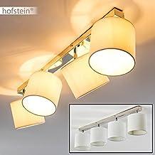 Lámpara de techo Namu 4x 40W max - Lámpara de techo carril pantallas textil orientables cocina salón dormitorio