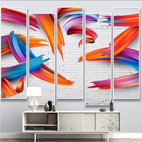 Dalxsh carta da parati personalizzata 3d foto murales nordic minimalista personalità astratta colorato linee geometriche carta da parati sfondo-280x200cm